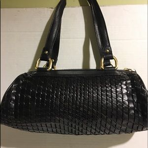 Cole Haan Black leather shoulder handbag